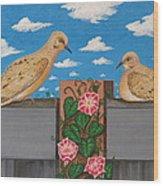 Love Is In Bloom Wood Print