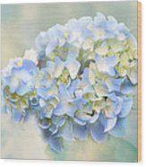 Love Letter Vii Hydrangea Wood Print by Jai Johnson