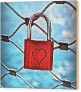 Love Lock And Memories Wood Print