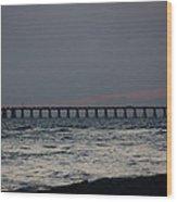 Love On The Beach Wood Print