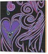 Love So Precious Wood Print