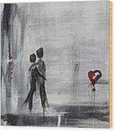 Love Story 1 Wood Print