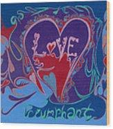 Love Triumphant 2nd Of 3  Wood Print