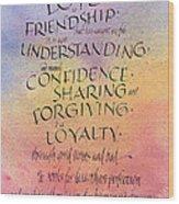 Lovefriendship Wood Print