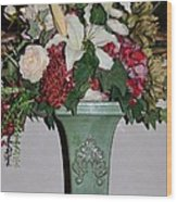 Lovely Floral Arrangement Wood Print