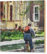 Lovely Spring Day For A Ride Wood Print