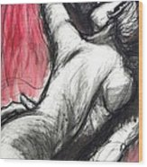 Lovers - The Kiss3 -rodin Wood Print