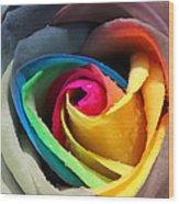 Lover's Rose Wood Print