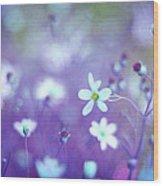 Lovestruck In Purple Wood Print