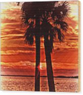 Loving Palms-the Journey Wood Print