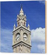 Low Angle View Of A Clock Tower, Albert Wood Print