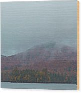 Low Clouds Over Blue Mountain Lake Wood Print