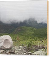 Low Clouds, Quebec Wood Print
