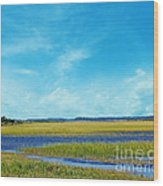 Low Country Marsh Wood Print