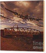 Low Flying Over Rawcliffe Bridge Wood Print by Nigel Hatton
