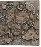 Low Relief Cement Thai Style  Wood Print