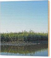 Low Tide In The Tidal Creek Wood Print