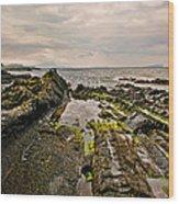 Low Tide Rocks Wood Print