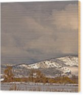Low Winter Storm Clouds Colorado Rocky Mountain Foothills 2 Wood Print