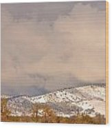 Low Winter Storm Clouds Colorado Rocky Mountain Foothills 4 Wood Print