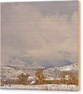 Low Winter Storm Clouds Colorado Rocky Mountain Foothills 5 Wood Print