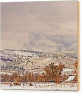 Low Winter Storm Clouds Colorado Rocky Mountain Foothills 6 Wood Print