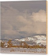 Low Winter Storm Clouds Colorado Rocky Mountain Foothills Wood Print
