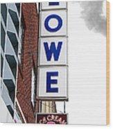 Lowe Drug Store Sign Color Wood Print
