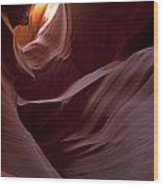 Lower Antelope Eleven Am On The Dot Wood Print