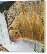 Lower Falls Rainbow Le Wood Print