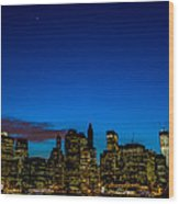 Lower Manhattan Wood Print