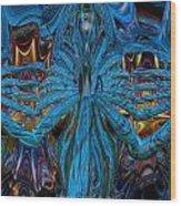 Lsd Neon Flower Fx  Wood Print