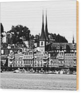 Lucerne In Monochrome Wood Print