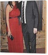 Luciana Barroso, Matt Damon At Arrivals Wood Print by Everett
