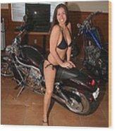 Biker 208 Wood Print