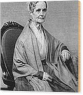 Lucretia Coffin Mott, American Activist Wood Print by Photo Researchers