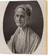Lucretia Coffin Mott.  F. Gutekunst Wood Print by Everett