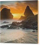 Luffenholtz Winter Sunset 1 Wood Print