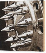 Lug Nuts Wood Print