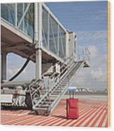 Luggage At A Gate Bridge Wood Print by Jaak Nilson