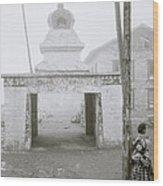 Lukla In The Himalaya Wood Print