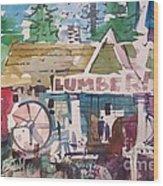Lumber Mill Wood Print