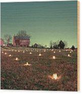 Luminaries In The Pasture 11 Wood Print