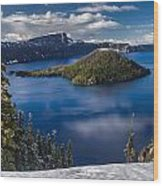 Luminous Crater Lake Wood Print