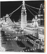 Luna Park - Coney Island - New York At Night - C 1903  Wood Print