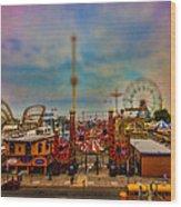 Luna Park-a-rama Wood Print