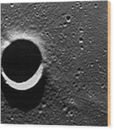 Lunar Crater, Apollo 17 Photograph Wood Print