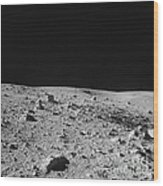 Lunar Surface Wood Print