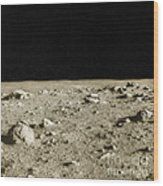 Lunar Surface Wood Print by Science Source