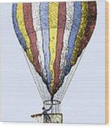 Lunardi's Balloon, 1784 Wood Print